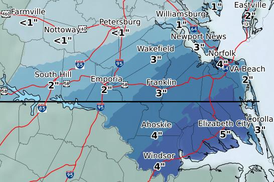 snow forecast franklin